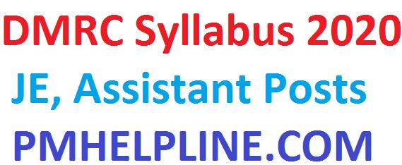 DMRC JE Syllabus 2020